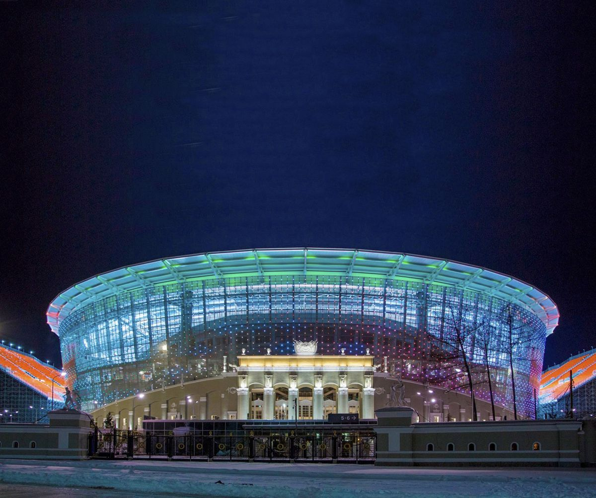 Architectural Lighting Of The Central Stadium Intiled